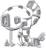 动画片房子 库存例证