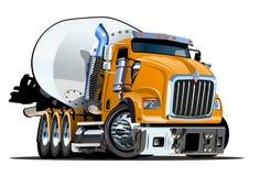 动画片搅拌器卡车 皇族释放例证
