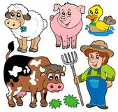 动画片收集农场 向量例证