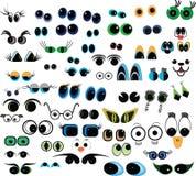 动画片收集眼睛 向量例证