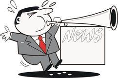 动画片新闻宣传 免版税图库摄影
