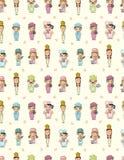 动画片无缝主厨的模式 免版税库存图片