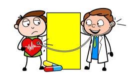 动画片有心脏病人传染媒介例证的心脏科医师医生 库存例证