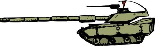 动画片样式坦克 免版税库存照片