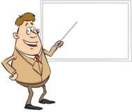 动画片样式的教师 皇族释放例证