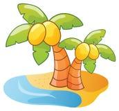 动画片棕榈树 库存图片