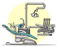 动画片椅子牙科医生 库存例证