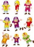 动画片橄榄球图标球员 库存图片