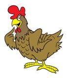 动画片母鸡 免版税图库摄影