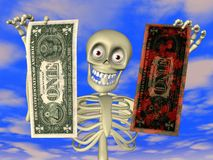 动画片洗涤的货币 图库摄影
