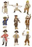 动画片海盗图标 免版税库存图片