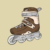 动画片溜冰鞋 图库摄影