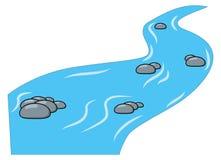 动画片溪,在白色背景隔绝的河 皇族释放例证