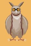动画片滑稽的猫头鹰传染媒介例证 免版税库存图片