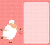 动画片滑稽的绵羊 免版税库存照片