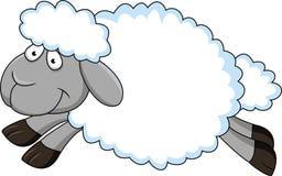 动画片滑稽的绵羊 免版税图库摄影