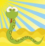 动画片滑稽的蛇 库存例证