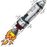 动画片火箭 向量例证