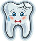 动画片牙。牙痛 库存照片