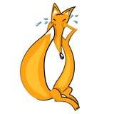 动画片狐狸哭泣的illustration.animal婴孩图标 免版税库存图片