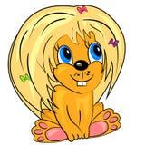 动画片狮子。 逗人喜爱的动物婴孩 库存图片