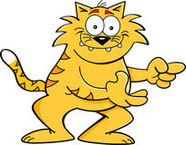 动画片猫指向 免版税库存照片
