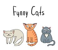 动画片猫 滑稽的看板卡 皇族释放例证
