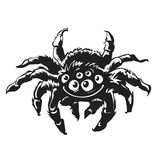 动画片硕大蜘蛛 万圣夜字符 向量 皇族释放例证