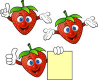 动画片草莓 免版税库存照片