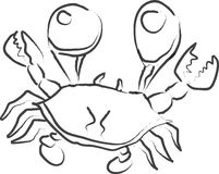 动画片螃蟹 免版税图库摄影