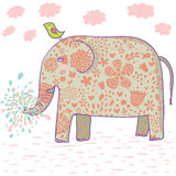 动画片设计大象 免版税库存图片