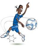 动画片足球运动员 图库摄影