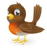 动画片逗人喜爱的例证知更鸟 免版税库存图片