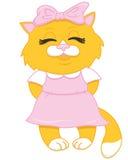 动画片逗人喜爱的小猫红色 库存图片