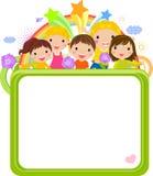 动画片逗人喜爱的框架孩子 免版税库存图片
