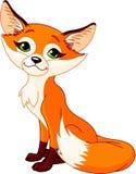 动画片逗人喜爱的狐狸 库存例证