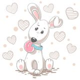 动画片逗人喜爱的狗 婴孩例证 库存例证