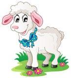 动画片逗人喜爱的羊羔 免版税库存照片
