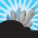 动画片都市风景 免版税库存照片