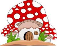 动画片采蘑菇房子 库存照片