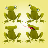 动画片青蛙 免版税库存照片