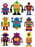 动画片颜色图标机器人 皇族释放例证