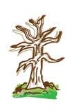 动画片颜色图画结构树 免版税图库摄影
