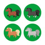 动画片马以各种各样的颜色 免版税库存图片