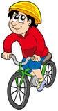 动画片骑自行车者 库存照片