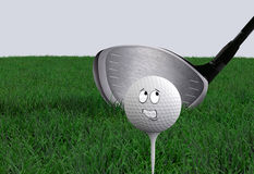 动画片高尔夫球 免版税库存照片