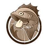 动画片鱼符号葡萄酒 库存照片