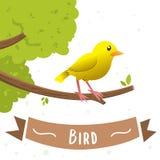动画片黄色鸟的例证 库存例证