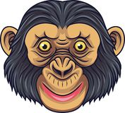 动画片黑猩猩顶头吉祥人 皇族释放例证