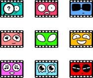 动画片filmstrips 库存照片